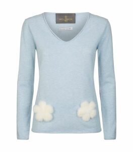Mink Trim Cashmere Sweater