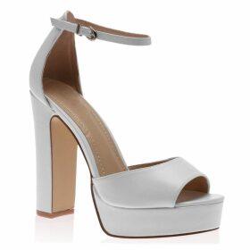 Leah Chunky Heels, White