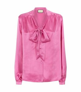 Silk Pussybow Blouse