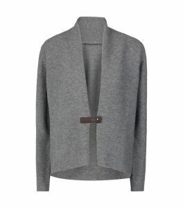 Cashmere Buckled Cardigan