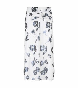 Sequin Floral Print Skirt