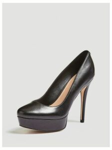 Guess Henlia Real Leather Court Shoe