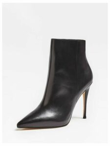Guess Olanes Real Leather Ankle Boots