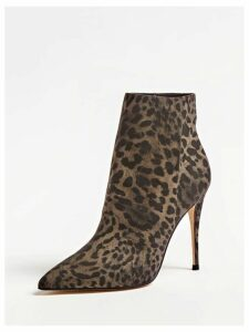 Guess Olanes Animal-Print Ankle Boots