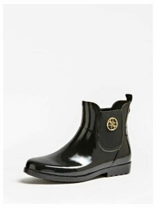 Guess Rekha Patent-Look Rain Boots