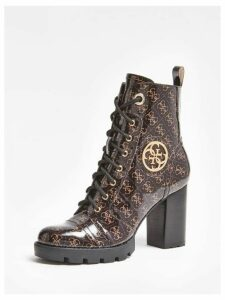 Guess Ruray Logo-Print Low Boots