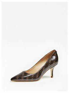 Guess Dessie Logo-Print Court Shoes