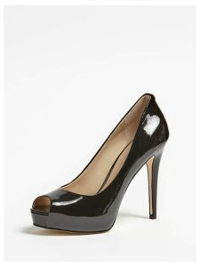 Guess Hadie Leather Peep-Toe Court Shoes