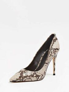 Guess Okley Python-Print Court Shoes