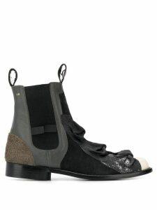 Comme Des Garçons Pre-Owned 1990's bow details Chelsea boots - Grey