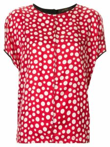 Louis Vuitton pre-owned silk polka dots blouse - Red
