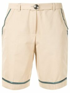 Chanel Pre-Owned CC button shorts - Brown