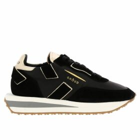 Ghoud Sneakers Rush X Ghoud Sneakers In Nylon And Suede With Laminated Leather Finishing And Maxi Bicolor Rubber Sole