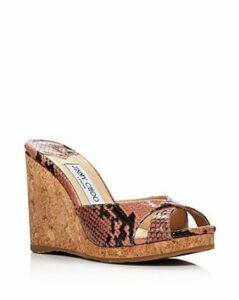 Jimmy Choo Women's Almer 105 Crisscross Wedge Slide Sandals