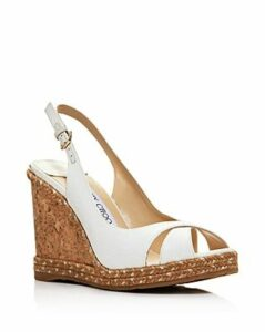Jimmy Choo Women's Amely 105 Woven Wedge Slingback Sandals