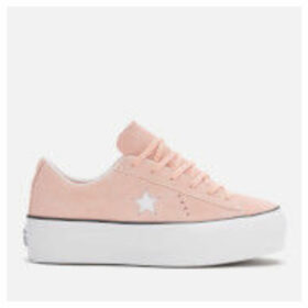 Converse Women's One Star Platform Ox Trainers - Bleached Coral/Black/White - UK 8 - Pink