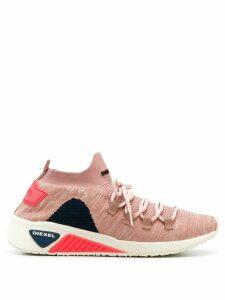 Diesel knitted style sneakers - Pink