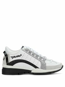 Dsquared2 glitter runner sneakers - White
