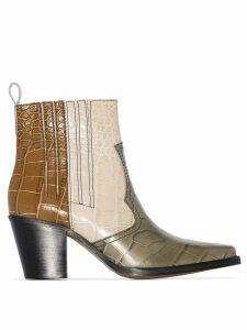 Ganni Callie 70mm cowboy boots - Multicoloured