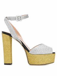 Giuseppe Zanotti glitter platform sandals - Silver
