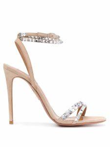 Aquazzura embellished stiletto sandals - Neutrals