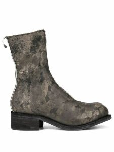 Guidi printed zip front boots - Green