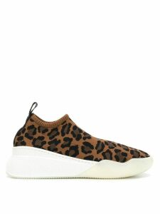 Stella McCartney leopard print sneakers - Brown