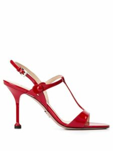 Prada slingback stiletto sandals - Red