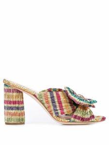 Loeffler Randall heeled mules - Multicolour