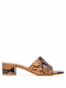 Maryam Nassir Zadeh snakeskin effect sandals - Brown