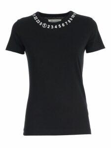 Maison Margiela T-shirt S/s W/logo On Neck