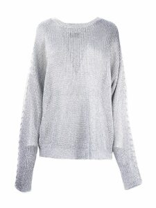 RTA Silver-toned Fabric Pullover