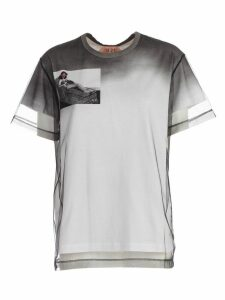 N.21 T-shirt W/tulle And Print