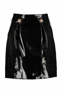 Versace Faux Leather Mini Skirt