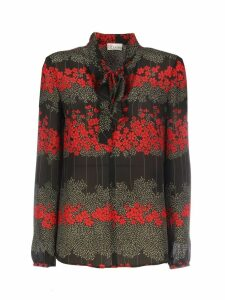 RED Valentino Long Sleeves Flora Print Crewneck