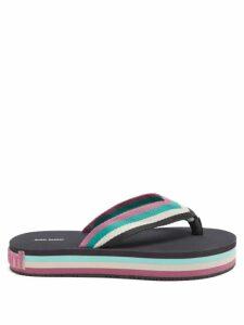 Thierry Colson - Grisette Geometric Print Cotton Blend Skirt - Womens - Blue