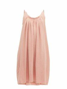 Loup Charmant - Gather Shortie Cotton-gauze Dress - Womens - Pink