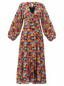 Gül Hürgel - Floral Print Crepe Maxi Dress - Womens - Multi