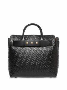 Burberry The Medium Monogram Leather Triple Stud Belt Bag - Black