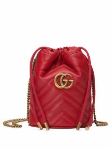 Gucci GG Marmont mini bucket bag - Red