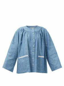 Proenza Schouler - Tiered Cotton-poplin Midi Skirt - Womens - Dark Green