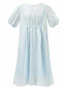 Proenza Schouler - Striped Long-sleeved Cotton T-shirt - Womens - Blue Multi