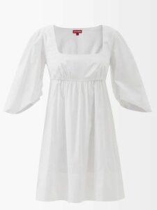 Raquel Diniz - Alma Pleated Silk Satin Dress - Womens - Red
