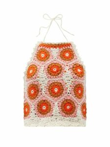 Raey - Hawaii Floral-print Dolman-sleeve Silk Shirt - Womens - Blue Print