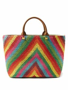 Batsheva - Daisy & Strawberry Print Asymmetric Cotton Dress - Womens - Red Multi