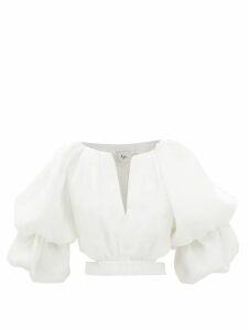 ATM - Striped Cotton T-shirt - Womens - White Black