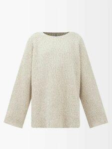 Altuzarra - Caroline Bird-print Silk Knee-length Skirt - Womens - Blue Print