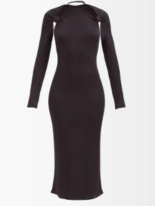 Proenza Schouler - Painted Dot Cotton-tissue T-shirt - Womens - Black Blue