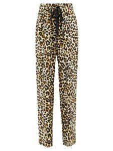 Horror Vacui - Plica Floral Print Cotton Midi Dress - Womens - Blue