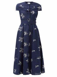 Msgm - Snake-print Jersey Shirt - Womens - Beige Multi